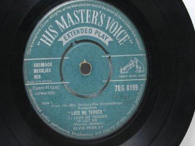 """ELVIS PRESLEY Love Me Tender U.K. HMV  7"""""""