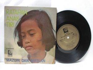 "Malay 70s Pop MAZUIN DAN MAZLAN Ratapan Anak Tiri 7"" PS EP"