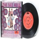 """BEE GEES Words INTERNATIONAL Polydor7"""" 45 RPM PS"""