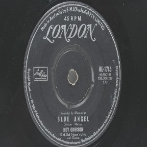 ROY ORBISON Blue Angel LONDON Australia AUSSIE Oz 7""