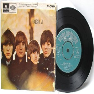 "BEATLES For Sale PARLOPHONE GREEN LABEL India MONO    7"" 45 RPM  PS EP"