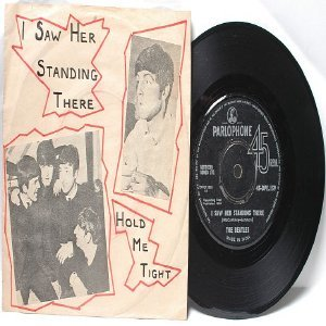 "BEATLES I Saw Her Standing There  PARLOPHONE  India  7"" DIY Cover  1964"