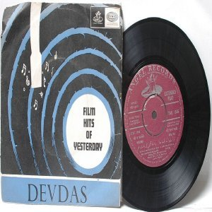"BOLLYWOOD INDIAN  Devdas S.D. BURMAN Geeta Dutt & Manna Dey 7"" 45 RPM EMI Angel EP 1969"