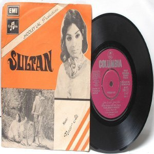"BOLLYWOOD INDIAN  Sultan NAZIR ALI Noor Jehan7"" 45 RPM Angel EP 19672"