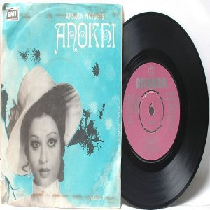 "BOLLYWOOD INDIAN  Anokhi ROBIN GOHS Menaz   7"" 45 RPM EMI Columbia EP 1976"