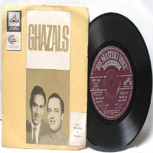 "BOLLYWOOD URDU INDIAN  Ghazals TALAY MAHMOOD & MUKESH  7"" 45 RPM EMI Angel EP 1964"