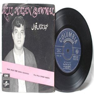 "ISLAMIC  INDIAN  Aziz Nazan Qawwal  7"" 45 RPM Columbia EP 1969"