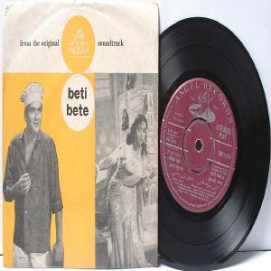 "BOLLYWOOD INDIAN  Beti bete SHANKAR JAIKISHAN Asha Bhosle 7"" 45 RPM EMI Angel EP 1964"