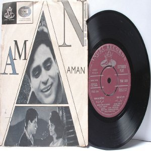 "BOLLYWOOD INDIAN  Aman SHANKAR JAIKISHAN Mohd. Rafi 7"" 45 RPM Angel EP 1967"