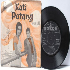 "BOLLYWOOD INDIAN  Kati Patang RAHUL DEV BURMAN Kishore Kumar 7"" 45 RPM EMI Odeon EP 1970"