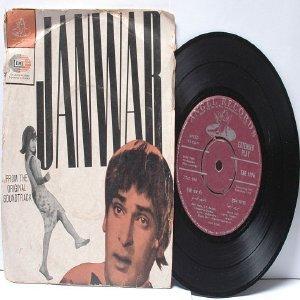 """BOLLYWOOD INDIAN  Janwar SHANKAR JAIKISHAN Mohd. Rafi 7"""" 45 RPM EMI Angel EP 1965"""