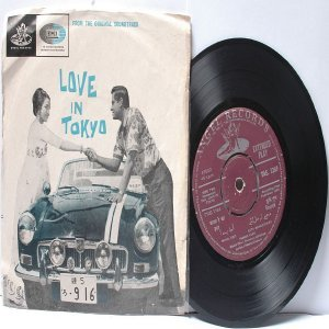 "BOLLYWOOD INDIAN  Love In Tokyo SHANKAR JAIKISHAN Mohd. Rafi 7"" 45 RPM EMI Angel EP 1966"