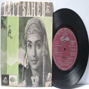 "BOLLYWOOD INDIAN  Latt Saheb SHANKAR JAIKISHAN Mohd. Rafi 7"" 45 RPM EMI Angel EP 1967"