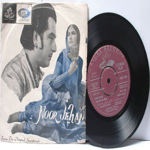 "BOLLYWOOD INDIAN  Noor Jehan ROSHAN Asha Bhosle 7"" 45 RPM Angel EP 1967"