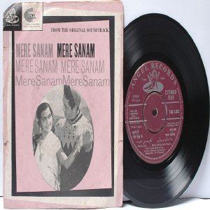 "BOLLYWOOD INDIAN  Mere Sanam O.P. NAYYAR Asha Bhosle 7"" 45 RPM Angel EP 1965"