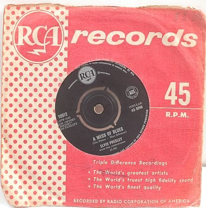 "ELVIS PRESLEY Mess Of Blues AUSTRALIA 7"" 45 RPM"