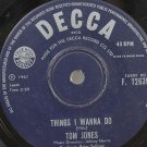"TOM JONES Never Fall In Love HONG KONG 1967 7"" 45 RPM"