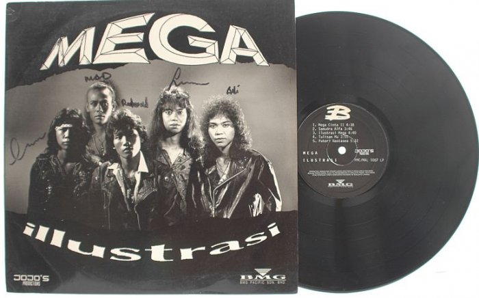 Rare MALAY ROCK HEAVY METAL Mega BAND AUTOGRAPHED LP