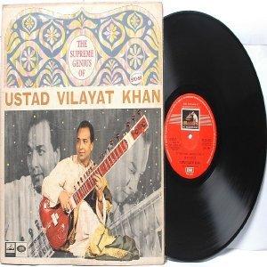 CLASSICAL INDIAN  Ustad Vilayat Khan EMI HMV Red Label  INDIA LP