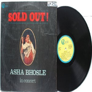 BOLLYWOOD LEGEND Asha Bhosle IN CONCERT LP 1984