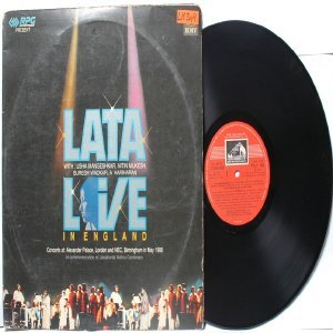BOLLYWOOD LEGEND Lata Mangeshkar  LIVE IN ENGLAND  EMI India  HMV  Double LP