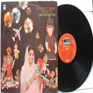 BOLLYWOOD LEGEND Lata Mangeshkar  SONGS FOR CHILDREN Hindi Films EMI India HMV LP 1975