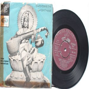 "BOLLYWOOD INDIAN  Saraswathi Sabatham K.V. MAHADEVAN  Sounderarajan   7"" EMI Angel EP 1966"