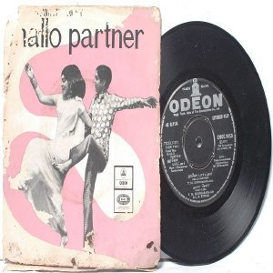 "BOLLYWOOD INDIAN Hallo Partner DHARAPURAM SUNDARARAJAN  7"" 45 RPM EMI Odeon EP 1972"