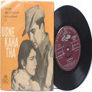 "BOLLYWOOD INDIAN  Usne Kaha Tha SALIL CHOWDHURY Lata 7"" 45 RPM  EMI Angel PS EP"