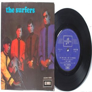 "ASIAN 60'S BAND The Surfers PRE OCTOBER CHERRIES EMI Columbia  7"" PS EP"