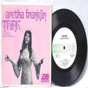 "ARETHA FRANKLIN Think AUSTRALIA Aussie ATLANTIC 7"" PS EP"