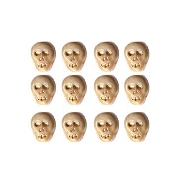 Bone/Ivory Color Skull Skeleton Beads Czech Glass Fun! 25 Pcs