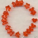 Orange 5 Petal Glass GLASS Czech BEADS