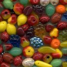 Fall Autumn Harvest Glass Fruit Beads 50 Pcs! NICE MIX