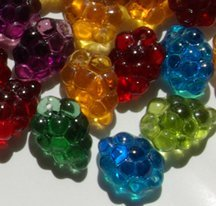 Autumn Harvest Green Purple Red Gold Blue Grape Glass Wine Bead Charms MIX