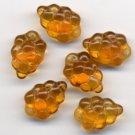 Gold Topaz Grape Beads Glass Fruit Charms 12