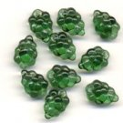 GREEN GRAPE CLUSTER GLASS CZECH BEADS (12) Lovely Color