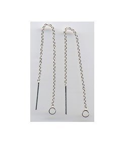 """3 5/8"""" Sterling Silver Ear Threads Threaders 2 Pair HARD TO FIND"""