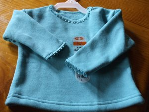 ATHLETIC WORKS Teal Long-Sleeve Sweat Shirt 6/9M~NWT