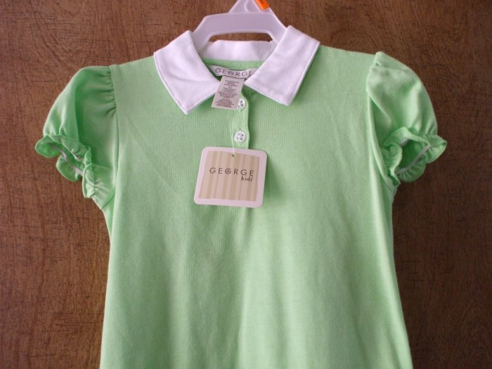 GEORGE KIDS Toddler Dress Lime Green ~ 4T ~ NWT