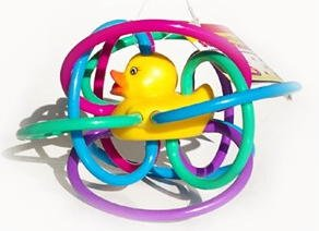 Rubber Duck Ducky Duckies Rattle Teething Ring Toy Baby