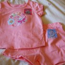 GARANIMALS Top/Short Outfit ~ Peach ~ 24M / 2T ~ NWT