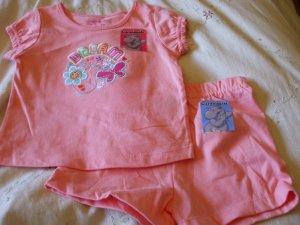 GARANIMALS Top/Short Outfit ~ Peach ~ 24M / 2T ~ NWT