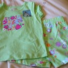 GARANIMALS Top/Short Outfit ~ Green ~ 24M / 2T ~ NWT