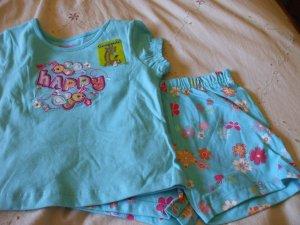 GARANIMALS Top/Short Outfit ~ Blue ~ 24M / 2T ~ NWT