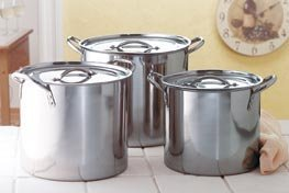 Stainless Steel Stock Pot Set of 3 (35351)
