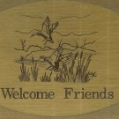 "T&T#45  Brass Door ""Welcome Friends"" Plaque Sign - NIP"
