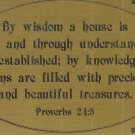 T&T#45  Brass Door (Wisdom Proverbs) Plaque Sign - NIP