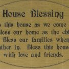 T&T#45  Brass Door (House Blessing) Plaque Sign ~ NIP