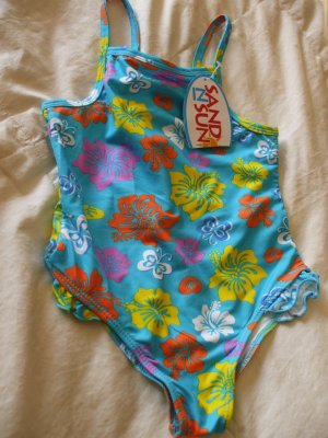 SAND N SUN Baby Girl 1-piece Swimsuit Hawaii ~ 3T ~ NWT